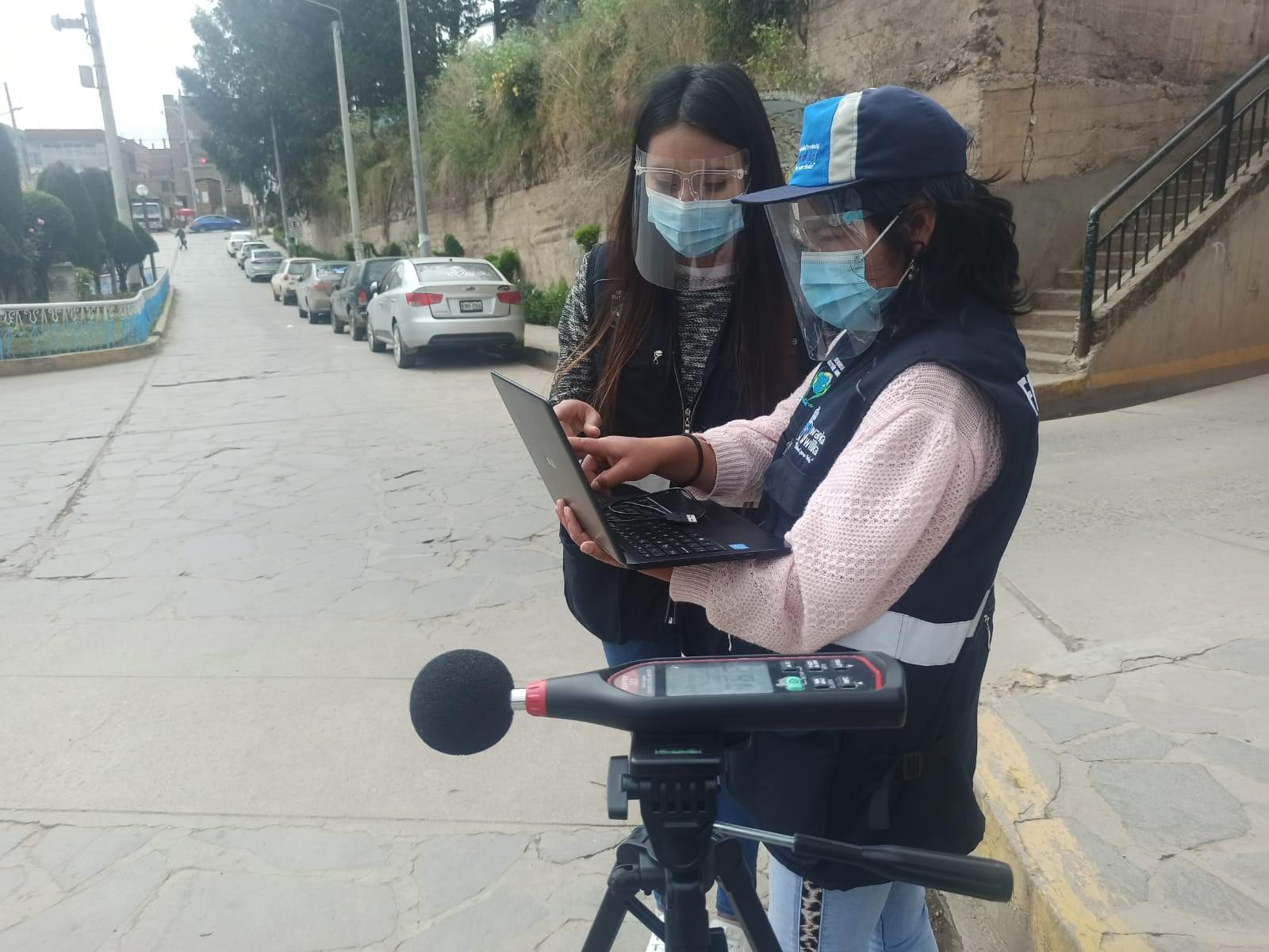 MUNICIPALIDAD PROVINCIAL DE HUANCAVELICA REALIZA MEDICIÓN DE RUIDO PARA DETERMINAR CONTAMINACIÓN SONORA EN LA CIUDAD
